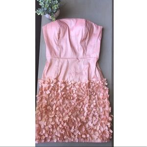 Forever 21 pink floral fitted dress